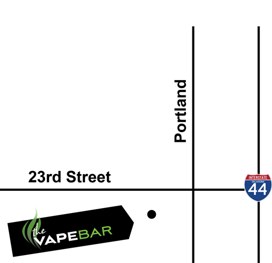 Store Map for The Vape Bar in Oklahoma City