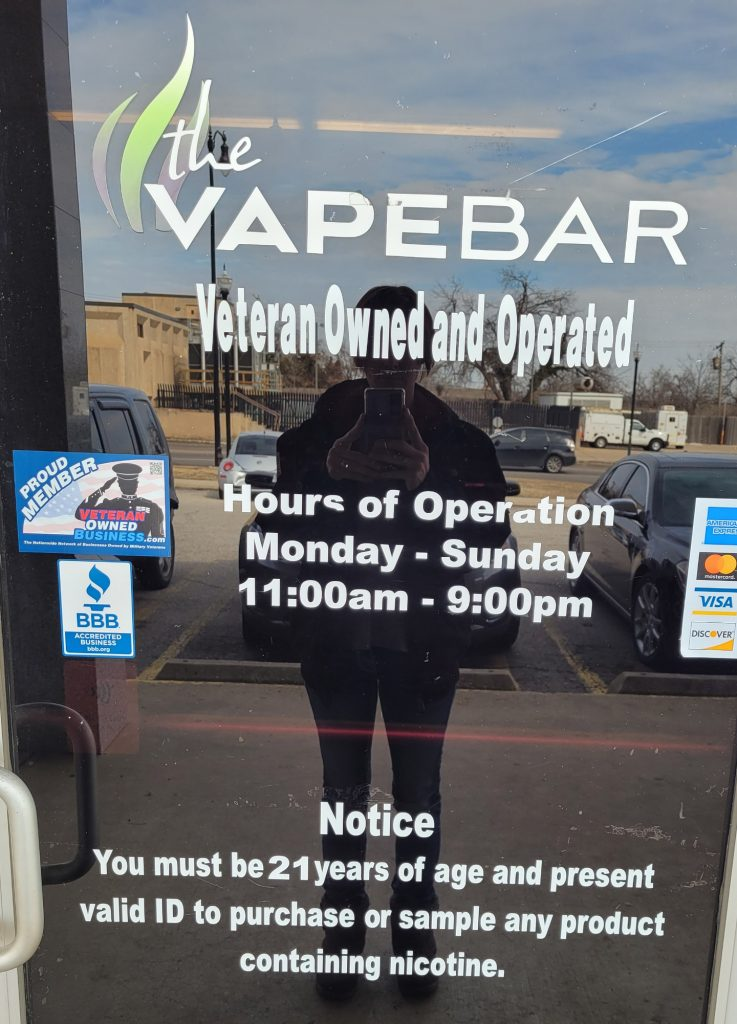 Can someone under 21 go into a vape shop? - You must be 21 years of age ad resent valid ID to purchase or sale any product containing nicotine.
