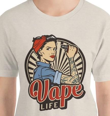 vape woman tshirt